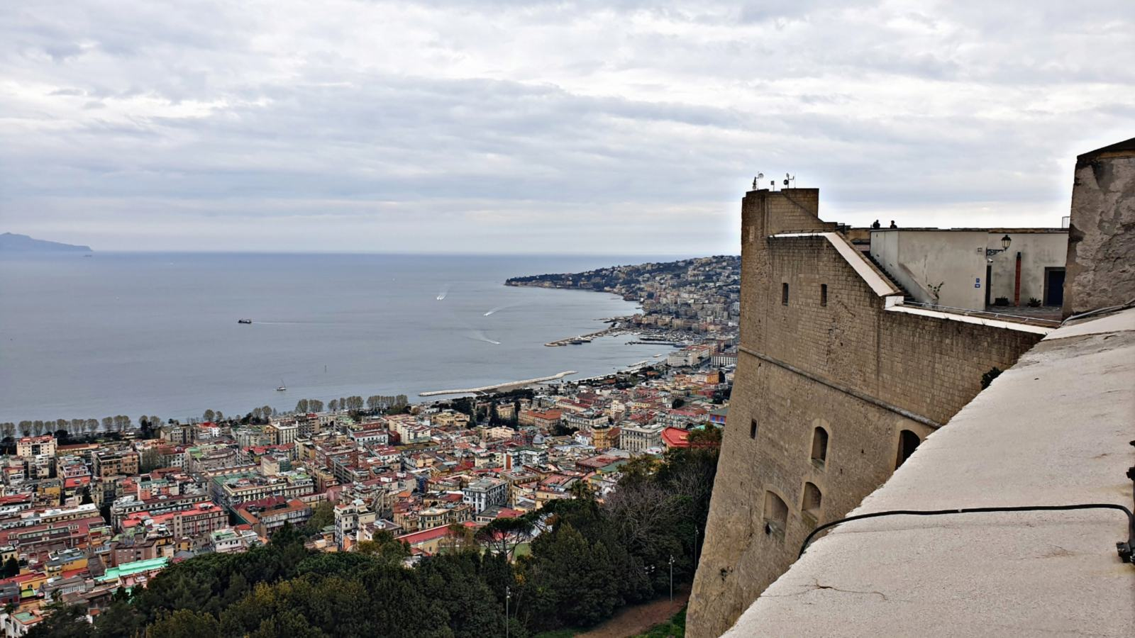 Vista del Golfo da Castel Sant'Elmo