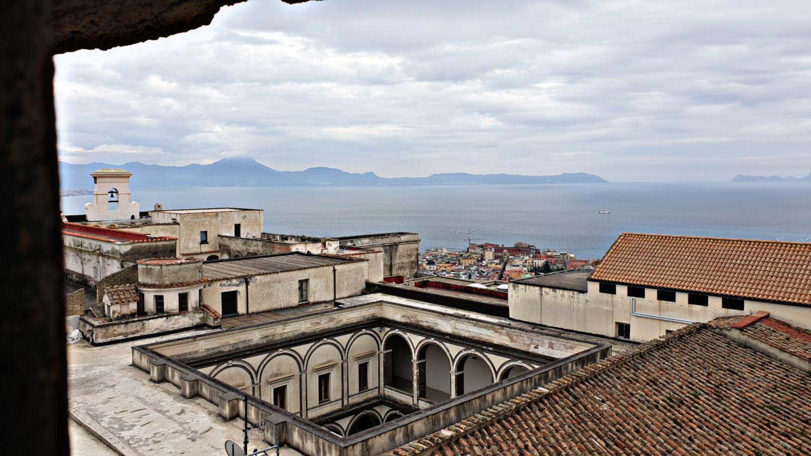 Il Chiostro di SanMartino da Castel Sant'Elmo