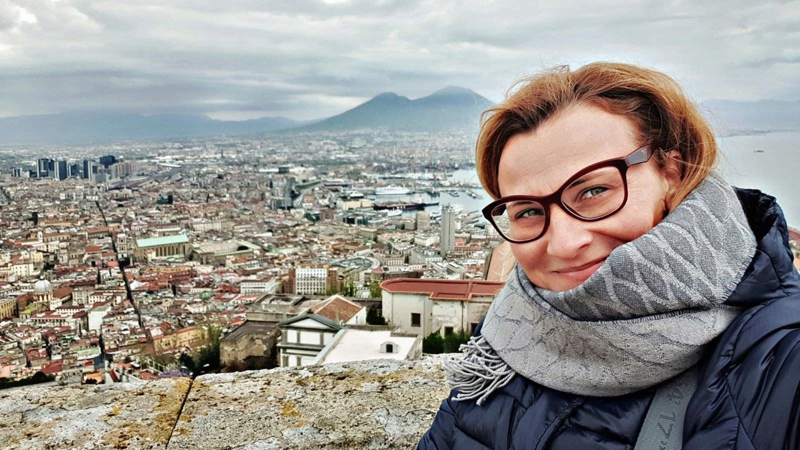 Vista da Castel Sant'Elmo sul Vesuvio e su Spaccanapoli