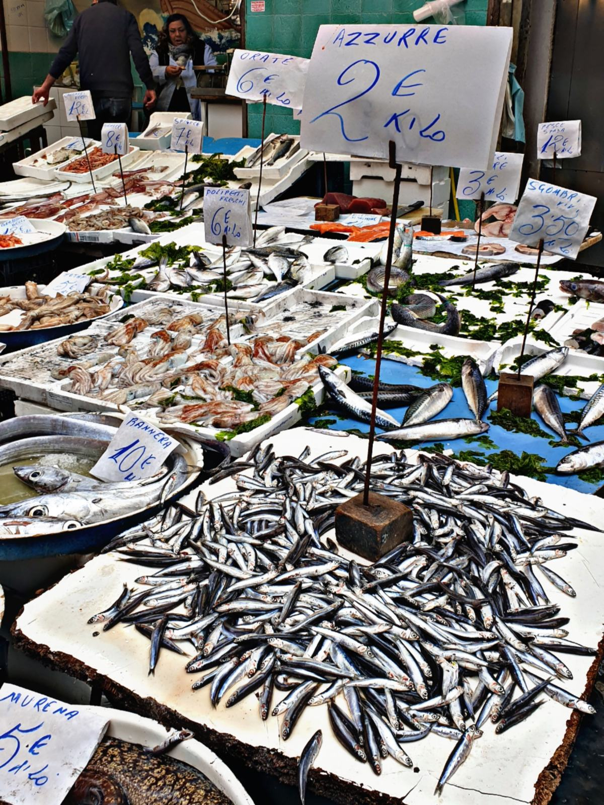 Pesce fresco al Mercato della Pignasecca