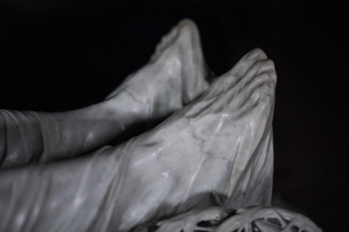 """Dettaglio Piedi del """"Cristo Velato"""""""