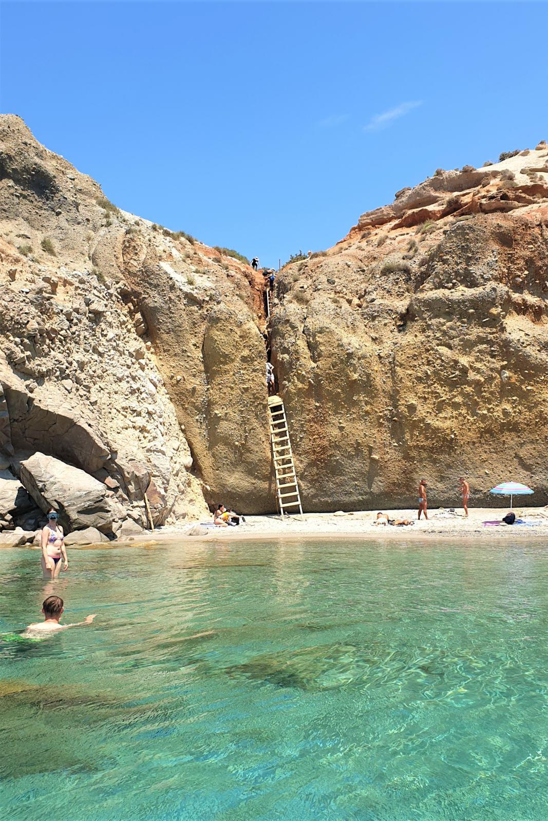 La spiaggia delle scale di Tsigrado - Milos