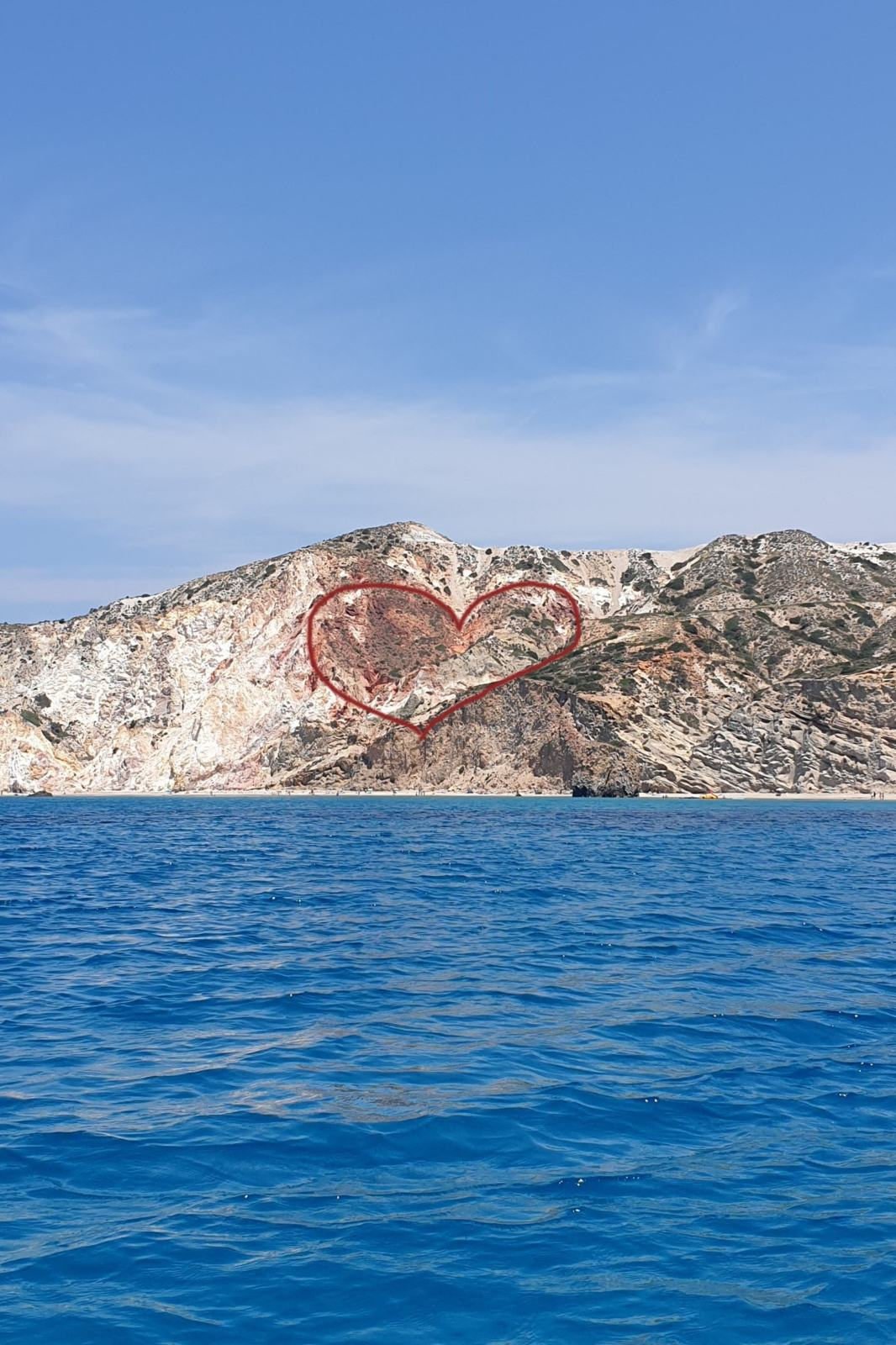 Il cuore sulle scogliere di Milos