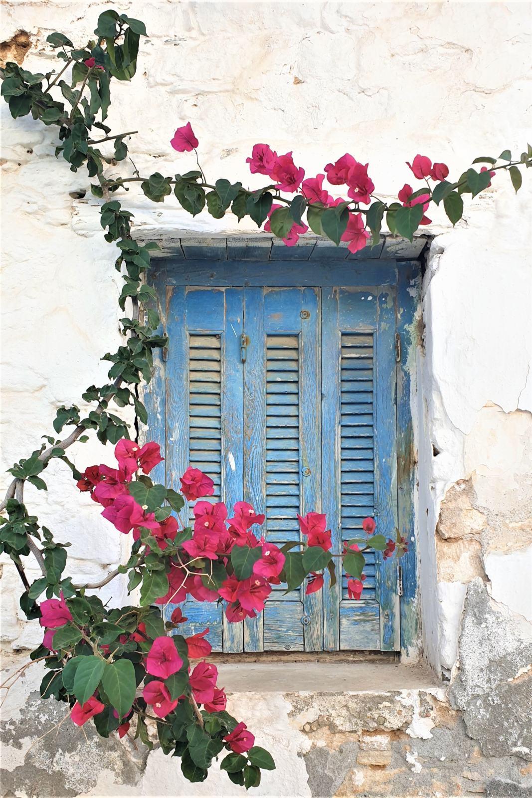 Persiane e Bouganville case del Kastro - Isola di Folegandros