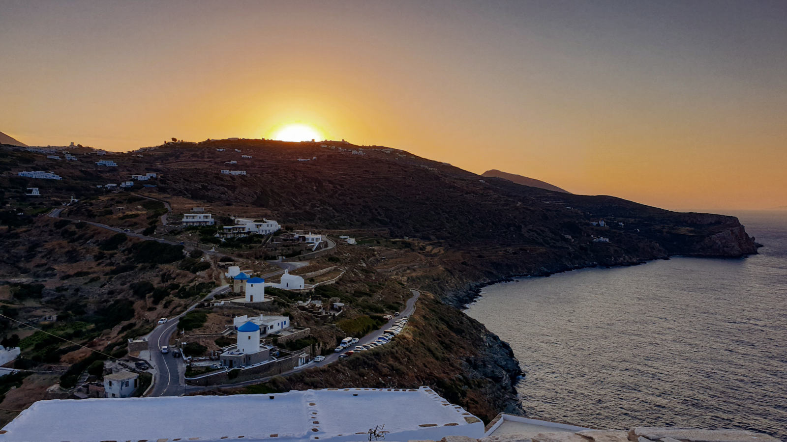 Isola di Sifnos - Tramonto dal Kastro