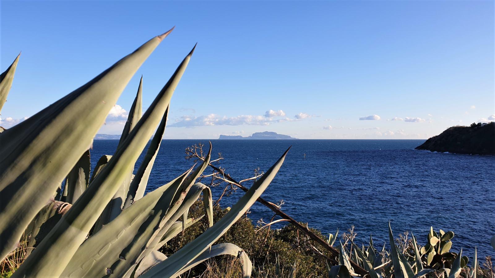 Il profilo dell'isola di Capri da Via Solchiaro
