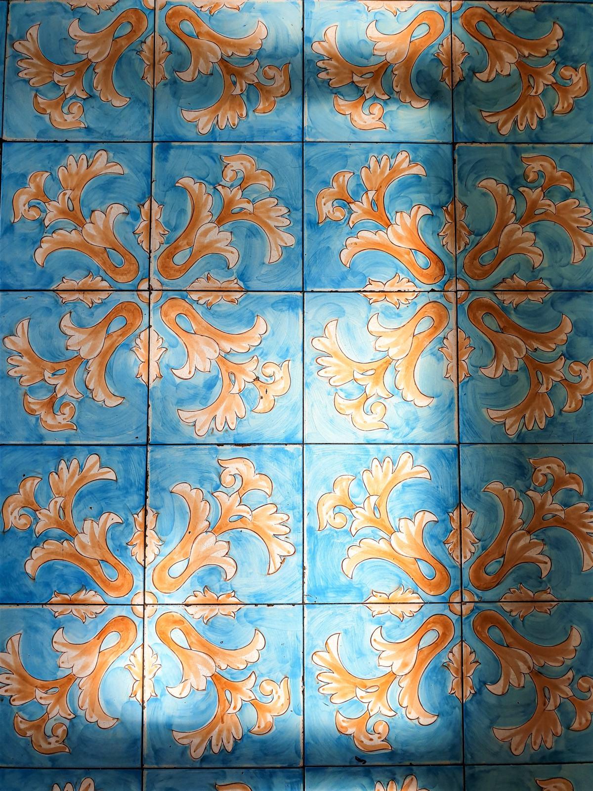 Pavimento in ceramica del bar pasticceria La Zagara a Positano