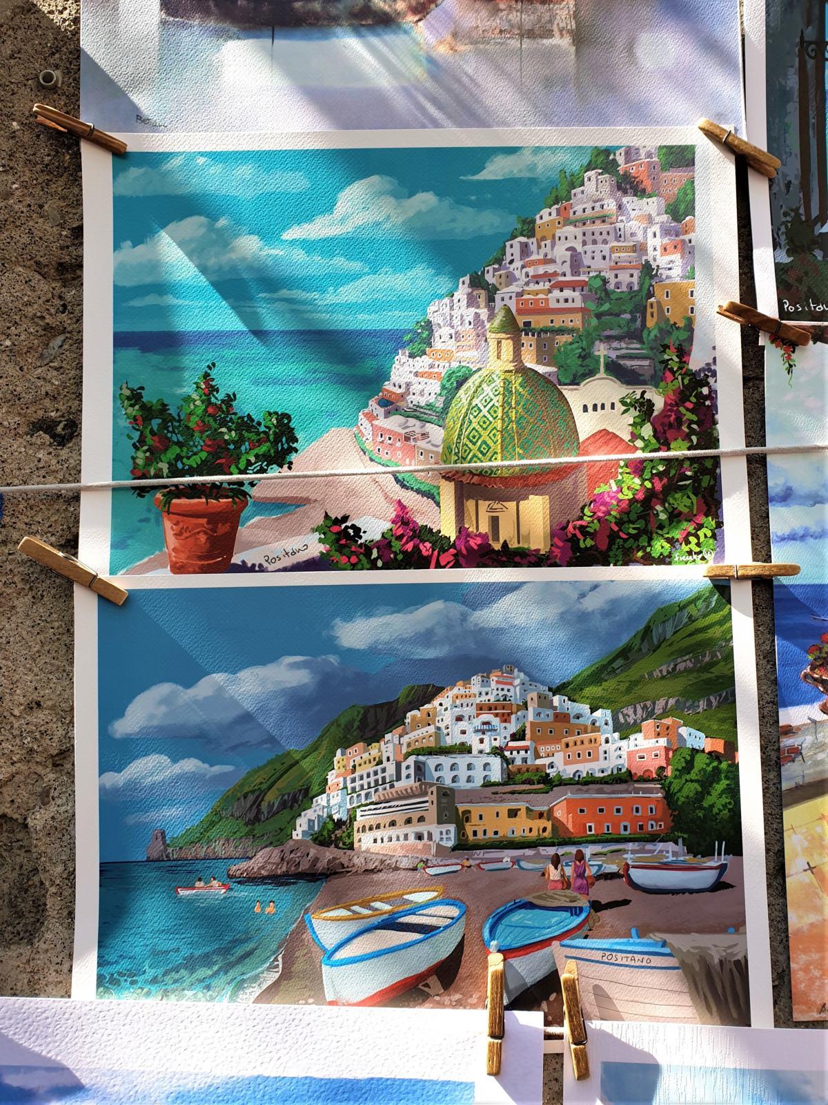 Immagini di cartoline di Positano