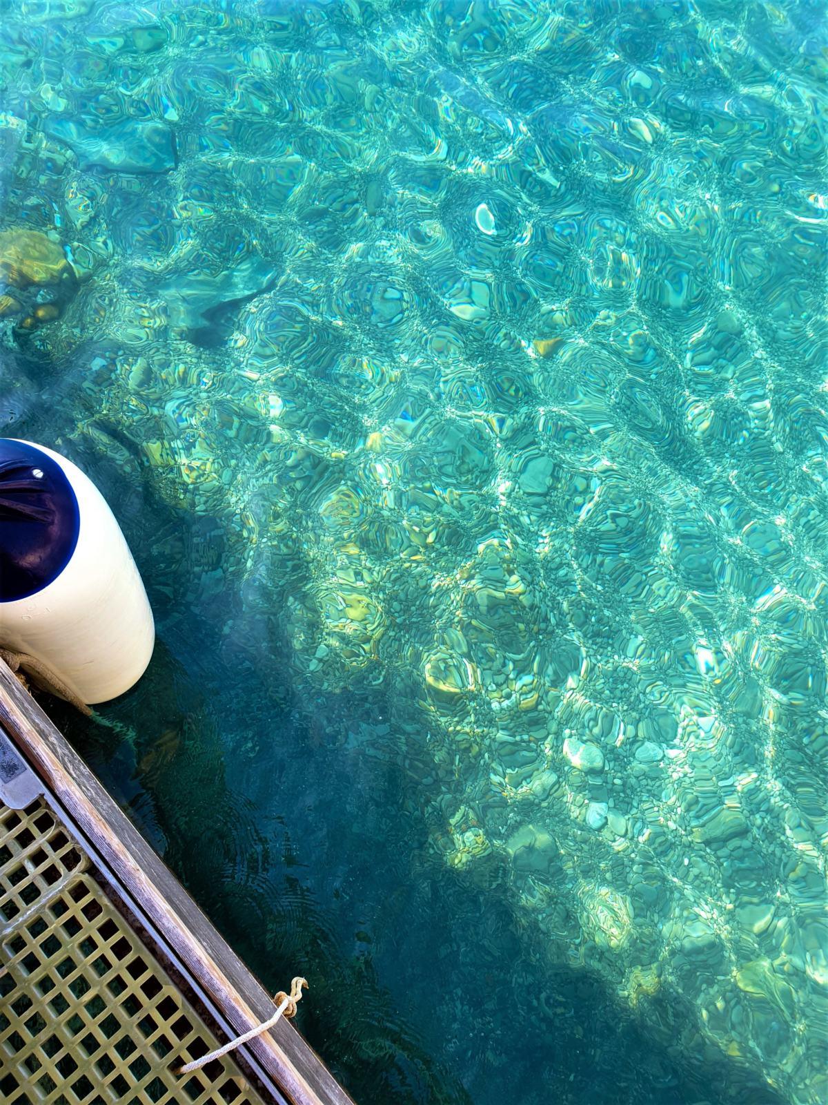Colore dell'acqua del mare a Positano