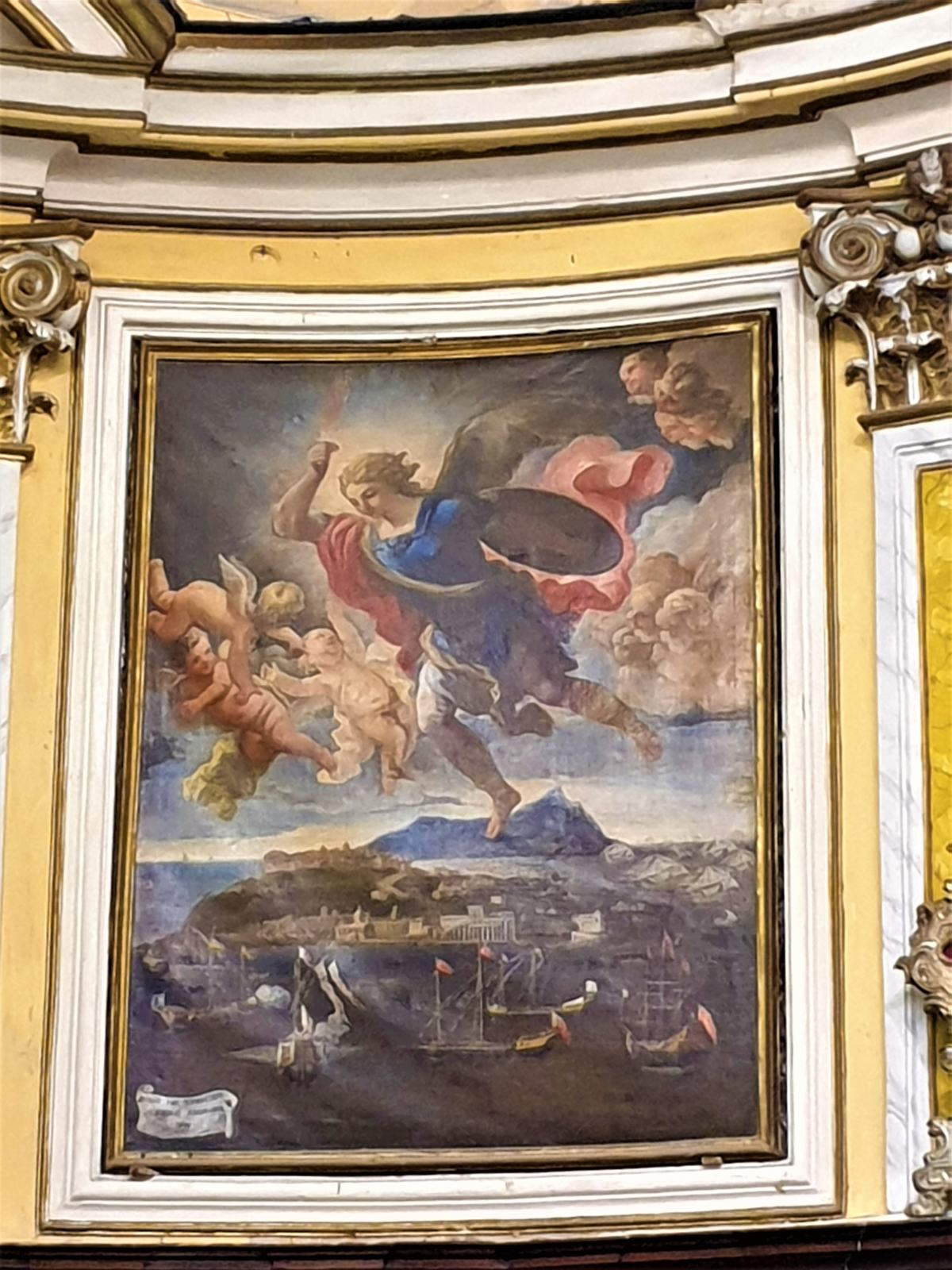 San Michele che appare a Procida