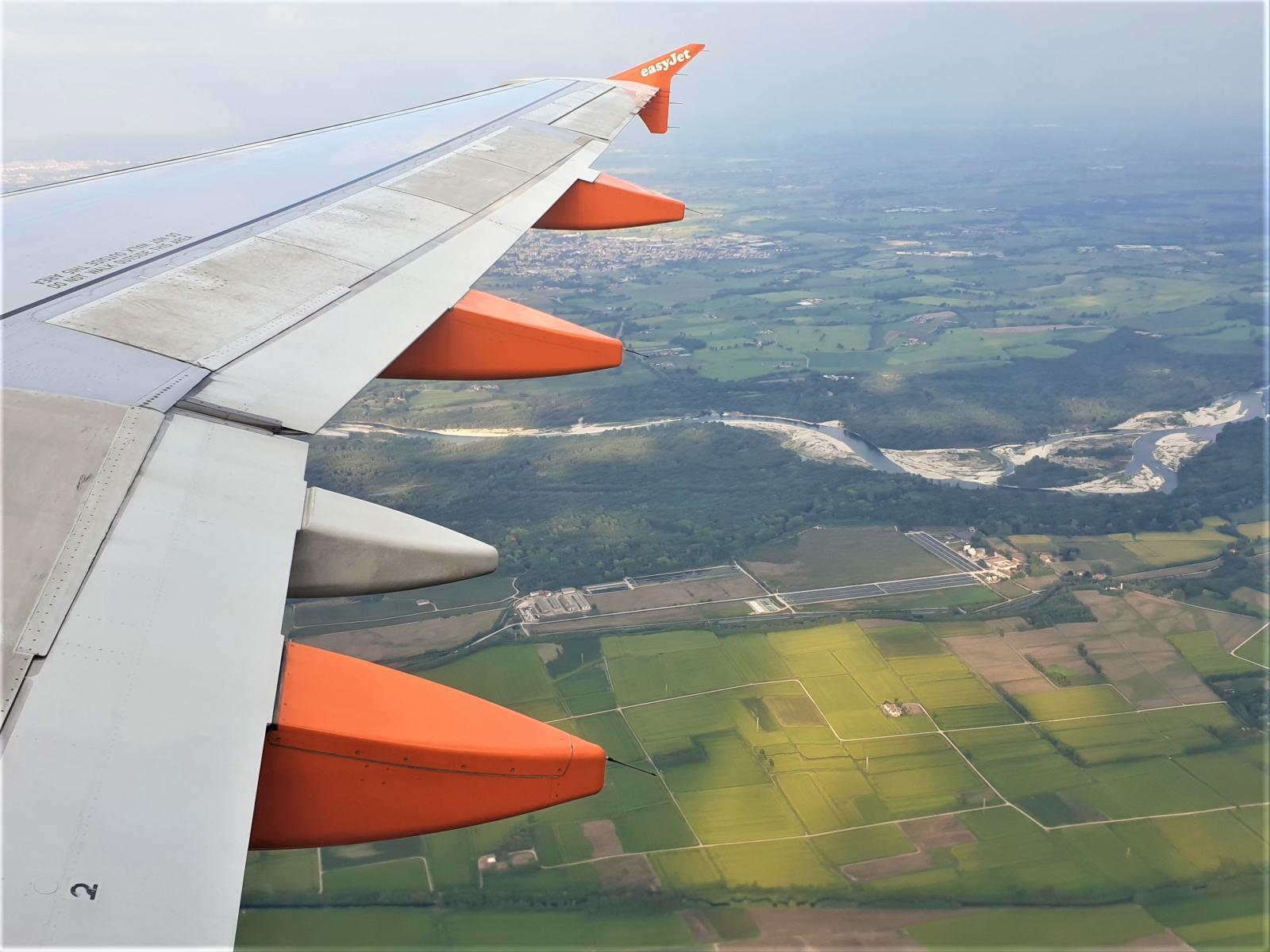 Vista sulla Lombardia durante un volo aereo