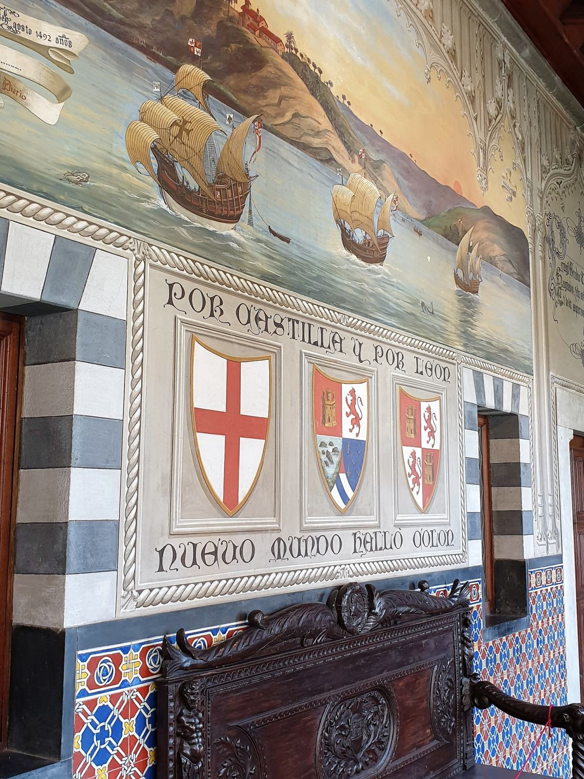 Particolare Affreschi Castello D'Albertis Genova