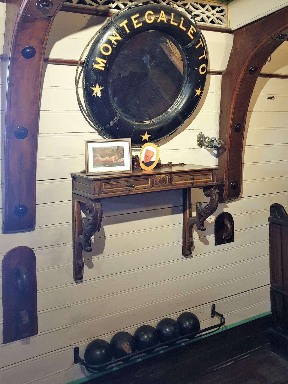 La cabina del Capitano